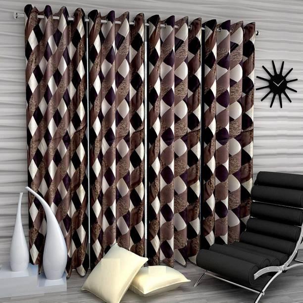 Guruh Homes 213.74 cm (7 ft) Polyester Door Curtain (Pack Of 4)