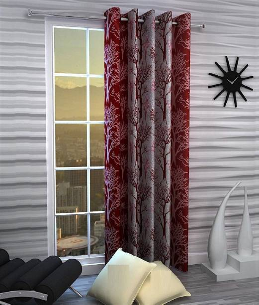 Guruh Homes 152.4 cm (5 ft) Polyester Window Curtain Single Curtain