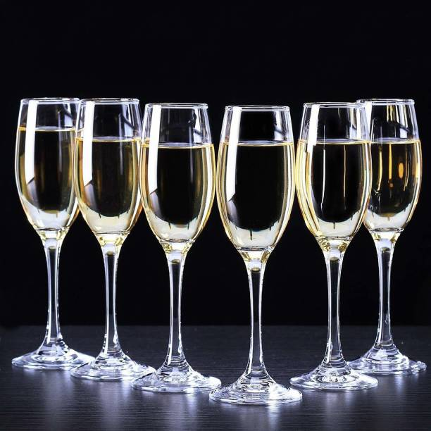 Qualitycrystal (Pack of 6) Luxury Tuscany Classics Champagne Flute Red Wine Bar Glass Set Of 6 PCs (170 ML) Glass Set