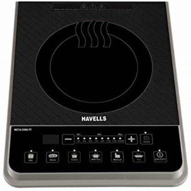 HAVELLS INSTA PT 1600 Watt Induction Cooktop (Black, Push Button) Induction Cooktop