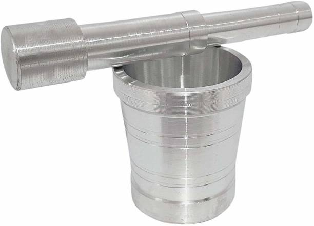 Jsingh Heavy Stainless Steel Mortar and Pestle Set Spice Mixer for Khalbatta Kitchenkhalbatta Steel Stainless Kitchen Small Aluminium Low Price Mortar Pestle Size Masher okhli Aluminium Masher