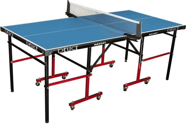DEUCE Mini 6x3 Feet with 18 mm Laminated Top, 25*25 mm Legs and 50 mm Wheels Rollaway Indoor Table Tennis Table