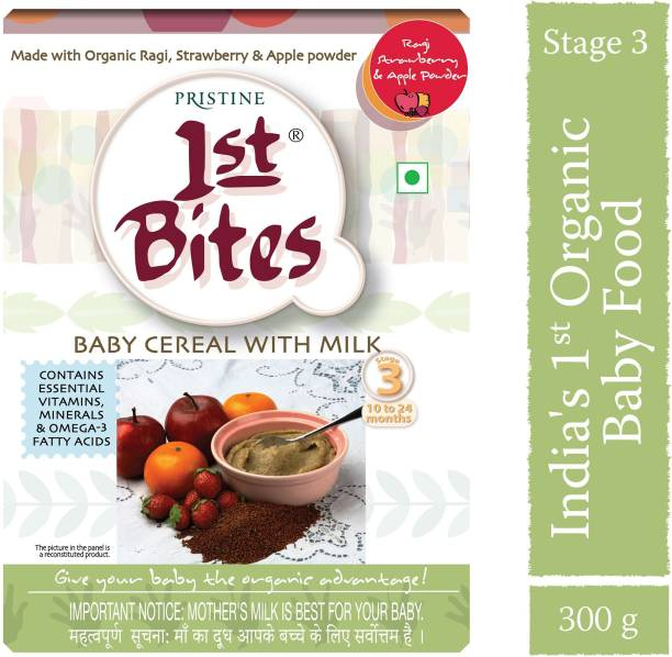 1st Bites Ragi, Strawberry & Apple Powder(10 Months - 24 Months) Stage - 3 Cereal