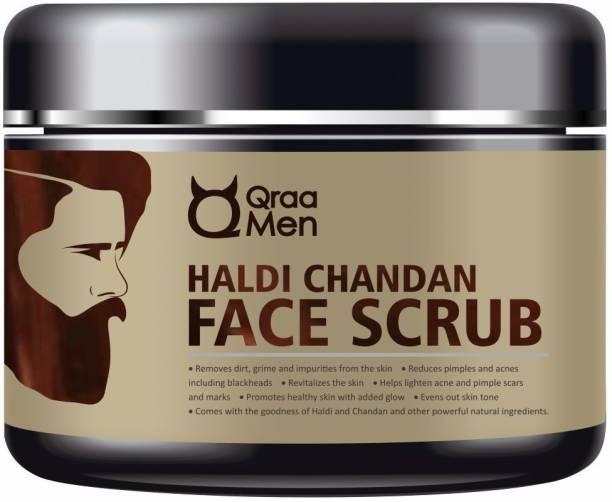 Qraa Haldi Chandan Face Scrub for Skin Brightening Scrub