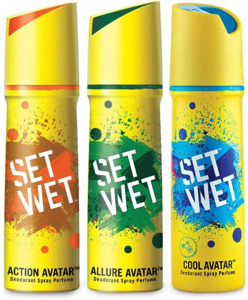 SET WET Deodorant Spray Perfume -Cool, Action and Allure Avatar Deodorant Spray  -  For Men
