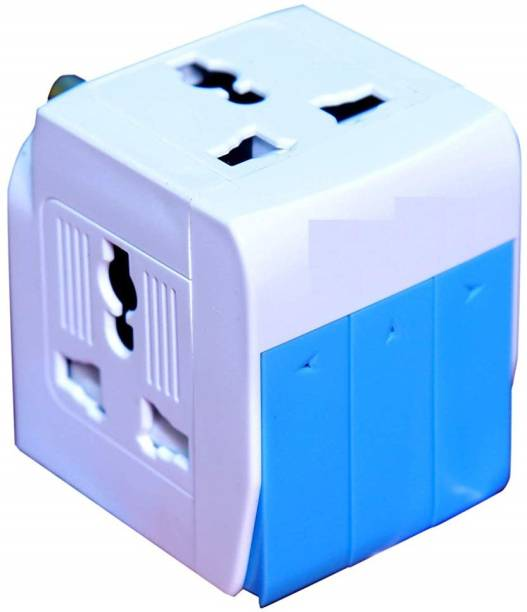 SEAHAVEN Fuse Protected 3 Way Universal Multi Plug with Individual Switch and Indicator, White 3-in-1 Universal Travel Adapter Multi Plug with Individual Switch 3 Socket Surge Protector Three Pin Plug