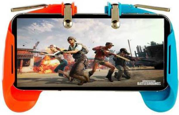 NEYSSA AK-16 Pubg Gamepad Gaming Grip Remote Control Compatible with PUBG/Fortnite/ Knives Out/Rules of Survival, Cell Phone Joystick Holder for Mobile Pubg Gamepad Remote Joystick & Trigger shooter controller button,fire and aim button pubg Mobile game trigger Fire Button Assist Tool Compatible with Android Mobile & Smartphones Sensitive Shoot/aim Buttons Trigger Mobile Game Controller Gamepad (Multicolor, For Android, iOS)  Gaming Accessory Kit