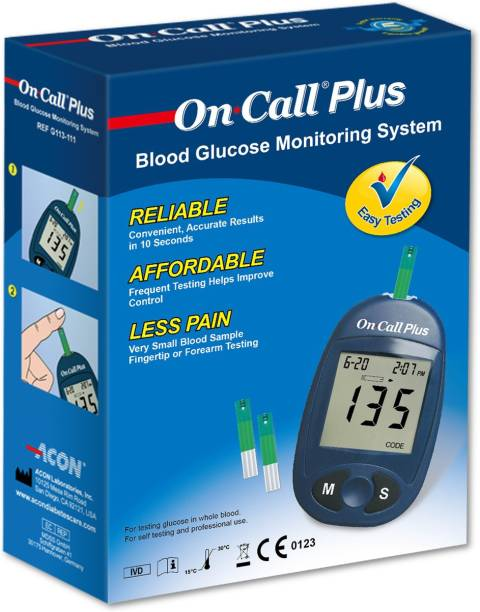 On Call Plus Plus Glucometer with 10 Strips Glucometer