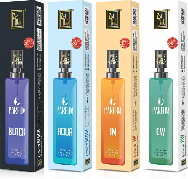 Zed Black Parfum Premium Fragrance Incense Sticks (pack of 4) Suitable For Everyday Use – Alluring Fragrance Sticks CW, Black, 1M, Aqua