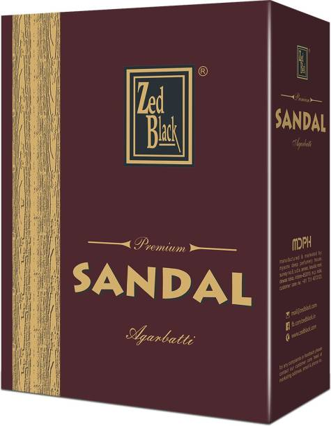 Zed Black Premium Sandal Incense Sticks Long Lasting Refreshing and Enthralling Agarbatti Scent Sticks for Everyday Use – Executive Pack (pack of 12) Sandal