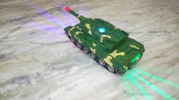 Whitewhale Electronic Robot Car Tank Deformation Robot Toy with Light, Music and Bump Function (Tank Robot) Toys for Boys/Toddlers/Kids
