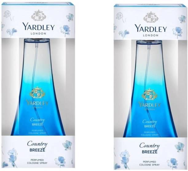 YARDLEY Country Breeze,50 ml,pack of 2. Eau de Toilette  -  100 ml