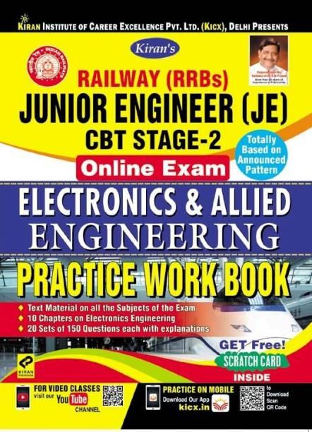 KIRAN RAILWAY (RRBS) JUNIOR ENGINEER (JE) CBT STAGE-2 ONLINE EXAM ELECTRONICS & ALLIED ENGINEERING PRACTICE WORK BOOK-ENGLISH(2590)