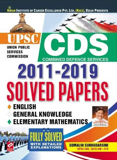 KIRAN UPSC CDS 2011-2019 SOLVED PAPERS BY SOMALIN SUBHADARSINI UPSC CSE,2018 AIR : 478-ENGLISH (2648)