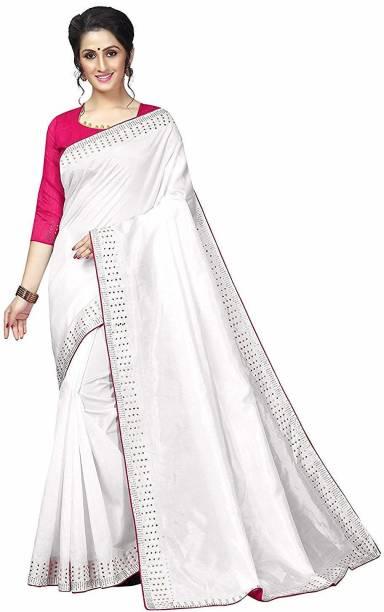Trovella Solid Bollywood Silk Blend Saree