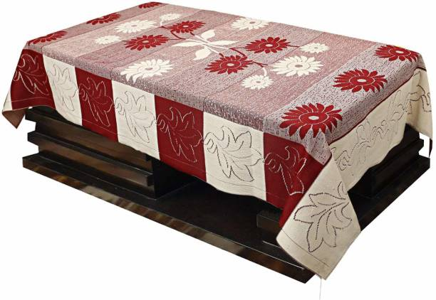 FAIRY HOME Maroon Polyester Table Linen Set