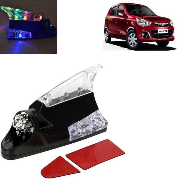 aksmit Wnd Powrd LED Lght Roof Antnn Shrk Fn Wrnng Flsh Lmp For Alto K10_SN168 Whip Vehicle Antenna