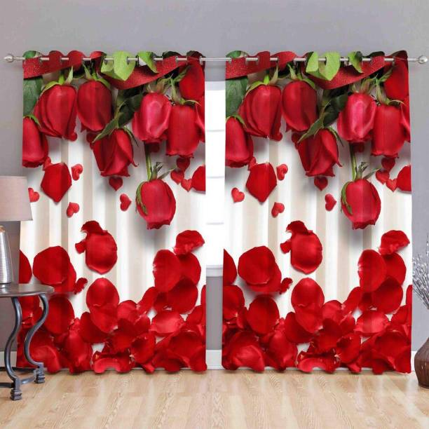 ARTSY HOME 214 cm (7 ft) Polyester Door Curtain (Pack Of 2)