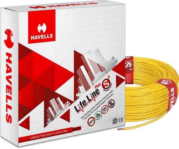 HAVELLS HRFR PVC 1 sq/mm Yellow 90 m Wire