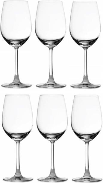 otak (Pack of 6) Imported Crystal Clear Wine Glasses set Ideal For Red Wine & White Wine Glass Set