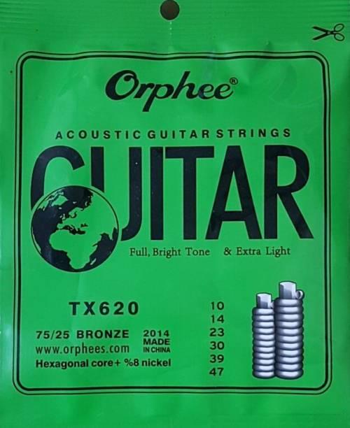 INDITRUST Acoustic Orphee Acoustic TX620 75/25 Guitar String normal light Guitar String