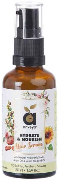 Anveya Hydrate & Nourish Hair Serum, for Dry, Damaged, Frizzy Hair & Hair Fall