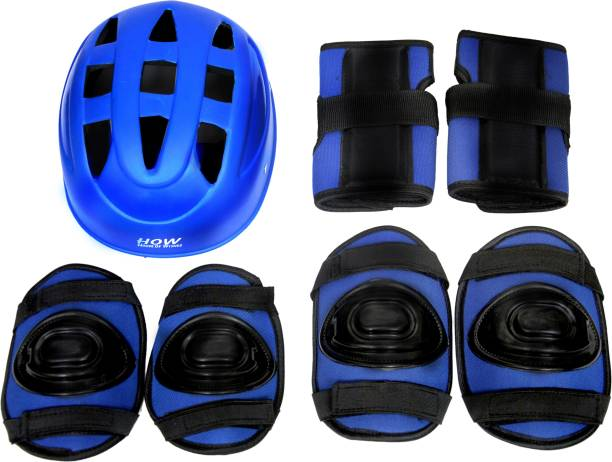 HOW(House Of Wishes) Skating Protective Gear Set for Roller Skates Cycling BMX Bike Skateboard Inline Skating Scooter Riding Sports Age 10 to 13 Year Blue Medium Skating Kit