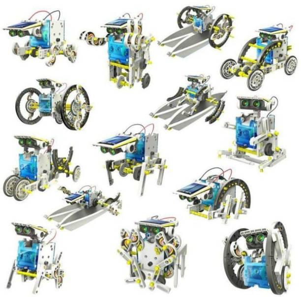 KGINT 14 in 1 Educational Solar Robot Kit toys for kids Educational Electronic Hobby Kit