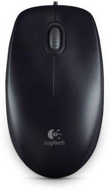 Logitech B100 full size corded mouse Wired Optical  Gaming Mouse
