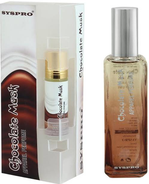 Syspro Chocolate Apparel Perfume (100 ml) With Free Concentrated Attar (8 ml) for Men, Woman & Unisex With Long Lasting For Birthday,Valentine & Rakhi Special Gift (100 ml + 8 ml) Eau de Parfum  -  108 ml