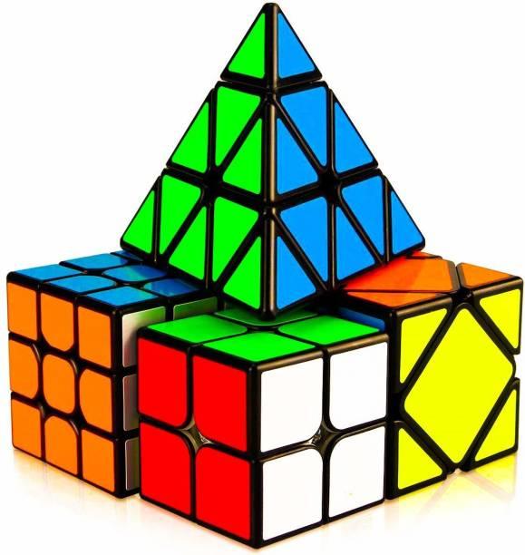 AGAMI Black 2X2 3x3 Pyraminx Triangle and Skewb Cube Cube