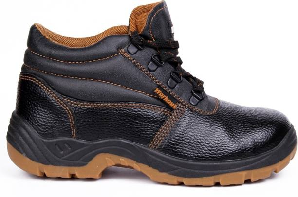 Hillson Workout Dual Density Steel Toe Synthetic Leather Safety Shoe