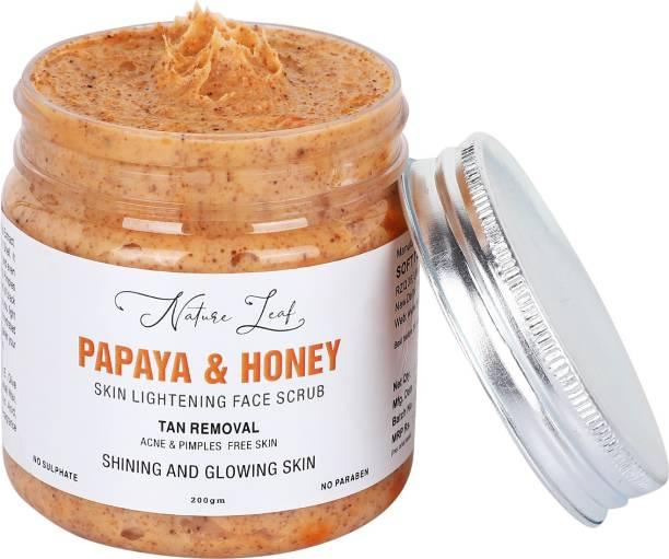 nature leaf Papaya & Honey skin Lightning Face  Scrub