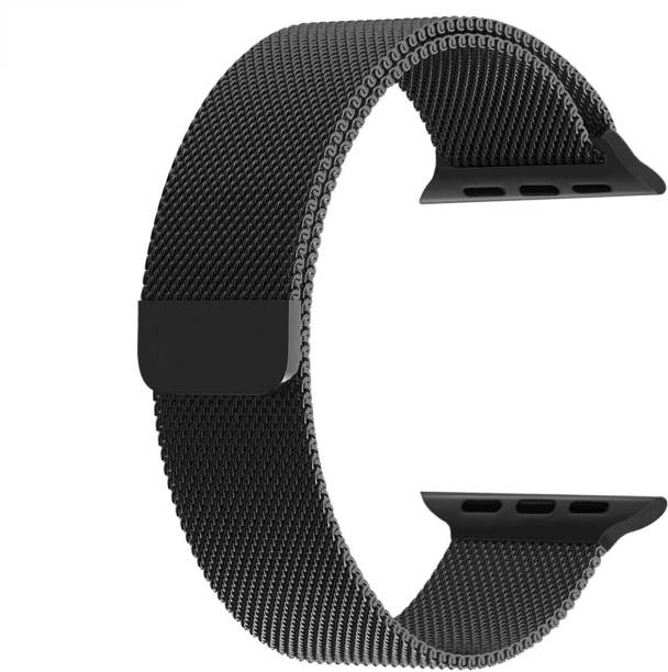 ZITEL Stainless Steel Milanese Strap Band with Magnetic Closure for iWatch 44mm Series 4, Series 5 - Black Smart Watch Strap