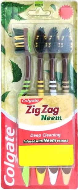 Colgate ZigZag Neem Medium Toothbrush