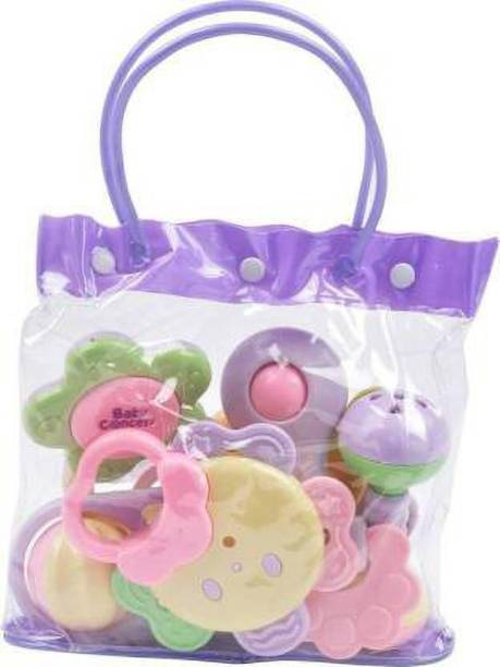 LooknlveSports Baby Rattle Set With Bag for Kids Rattle (Multicolor) Rattle (Multicolor) Rattle