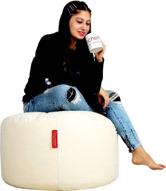 Couchette Large Organic Bean Bag Footstool  With Bean Filling