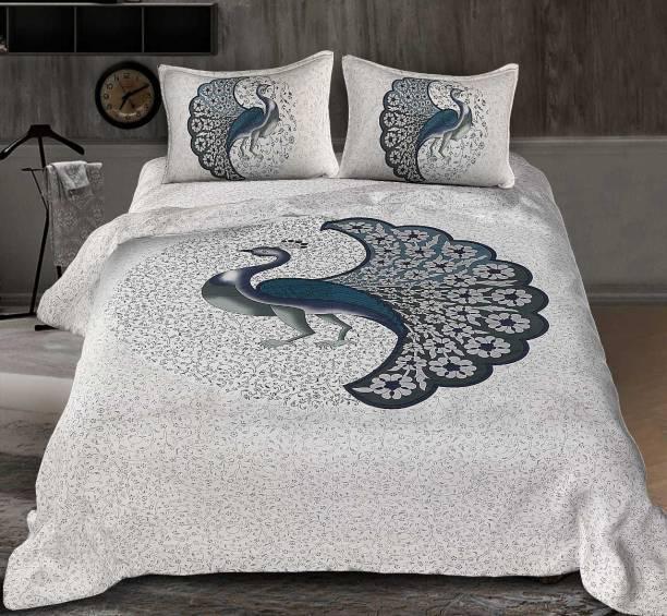 Dangal 144 TC Cotton Double Jaipuri Prints Bedsheet