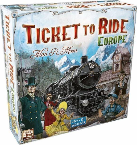 Chocozone Ticket to Ride Europe Family Board Game for 10 years old Boys & Girls ( Multiplayer) Strategy & War Games Board Game