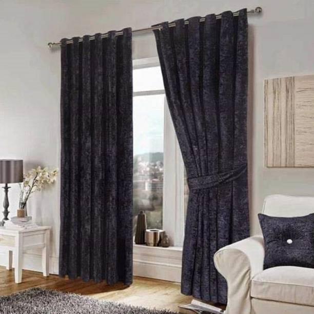 JVIN FAB 243.84 cm (8 ft) Velvet Long Door Curtain (Pack Of 2)