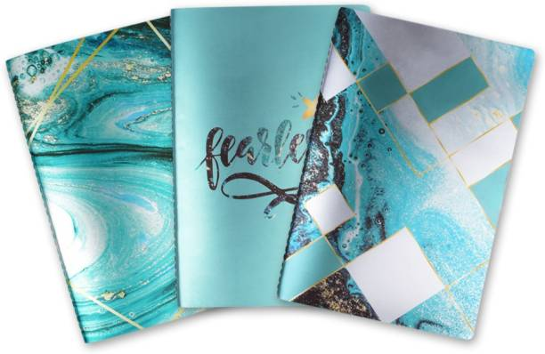 doodle Fearless Swirls (Set of 3) Diary B6 Diary Ruled 80 Pages