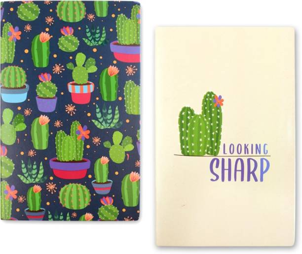 doodle Cactus Cart Set Of 2 Diary A5 Diary Ruled 80 Pages