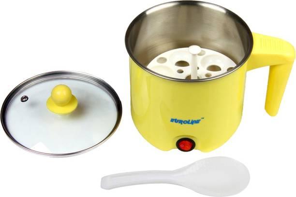 EUROLINE Multifunction Cooker ( Yellow) Food Steamer, Egg Boiler, Travel Cooker, Egg Cooker