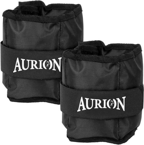 Aurion 500 Gram ( pair ) Black Home Gym Weight Bands Black Ankle & Wrist Weight