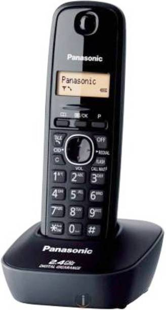 Panasonic Single Line 2.4 KX-TG3411SX Digital Cordless Phone (Black) Cordless Landline Phone