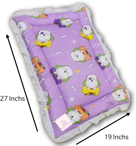 Fareto New Born Baby Supper Soft Fril Mattress(0-6 Months)( Pack Of 1)