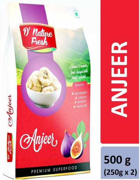D NATURE FRESH Anjeer (Figs) 500g (250g x2) Figs