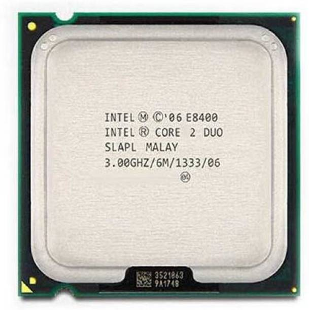 Intel CORE 2 DUO E8400 3 GHz Upto 3 GHz LGA 775 Socket 2 Cores 2 Threads 6 MB Smart Cache Desktop Processor