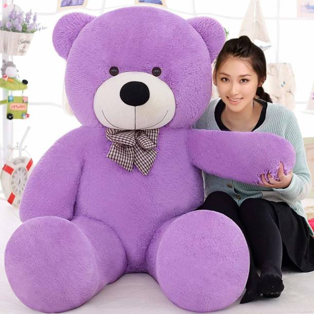 VENTP PRODUCTION Best Gift A Teddy Bear Purple Color Medium Size 3 Feet For Your Loved On  - 90 cm