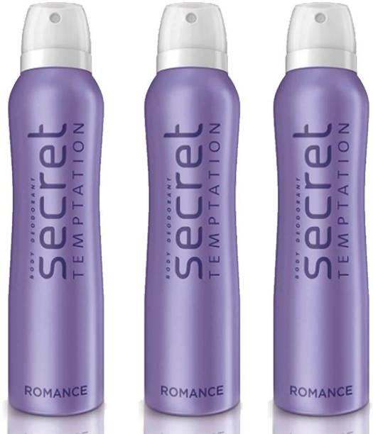secret temptation Romance Deodorant Spray Pack of 3 Combo (150ML each) Deodorant Spray  -  For Women